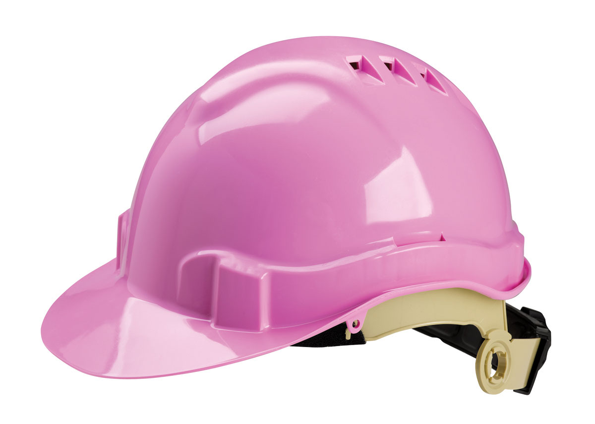 Women S Ratchet Vented Pink Hard Hat Charm And Hammer