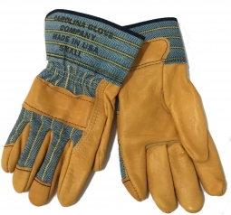 ebfa53fd3d27 Womens Top Grain Leather Work Gloves, USA Made, Flannel Lined