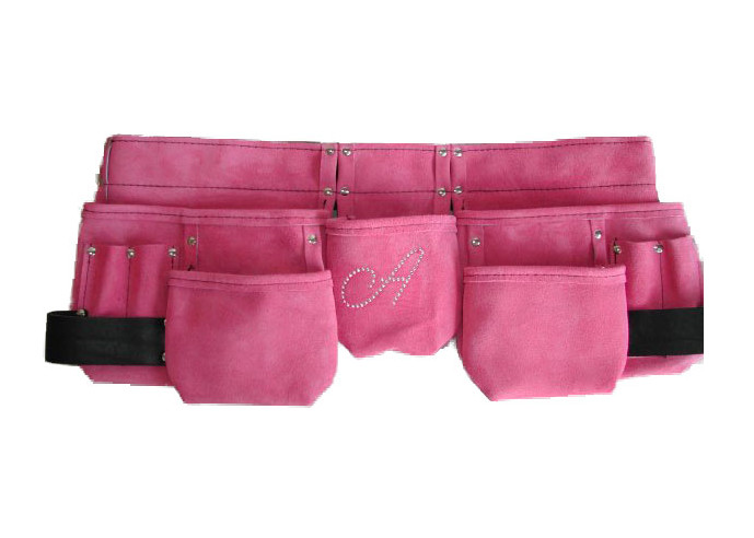 premium suede leather womens light pink tool belt charm