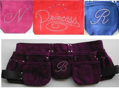 Womens Premium Suede Purple Tool Belt
